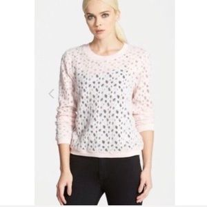 Search For Sanity Pink Burnout Sweater